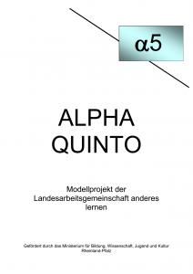 Deckblatt Alpha quinto